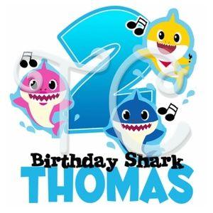 Other - Baby Shark Custom Birthday shirt